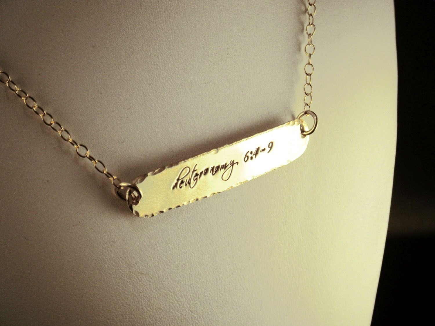 Name Plate In Gold Plate Necklace