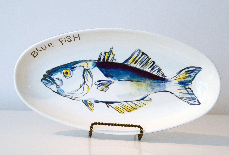 Custom Blue Fish Fish Plate Decorative Plater