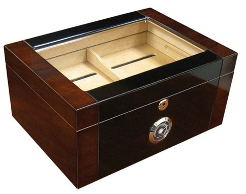 Custom Made Berkeley 2 100 Count Mahogany & Black Lacquer Cigar Humidor