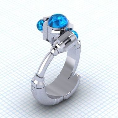 Custom Made The Tenth Sonic - Solitare Ring - Ladies