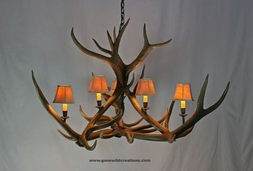 "Custom Made Elk Antler Chandelier ""Telluride"""