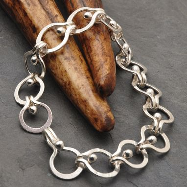 Custom Made Modern Open Weave Loop In Loop Bracelet