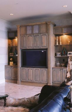 Custom Made Large Entertainment Cabinetry