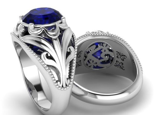 Custom Made Oval Filigree Ring