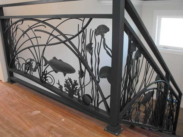 Custom Seascape Railing By Monumental Fabrication Of