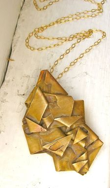 Custom Made Long Gold Chunky Pendant Necklace - Made To Order