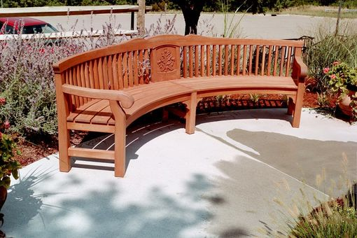 Custom Made Curved Benches Made For The Governors Mansion In Topeka Kansas