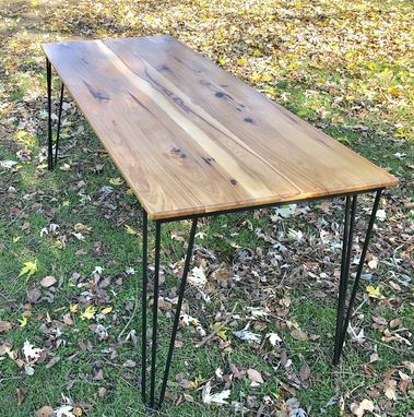 Custom Made Mid Century Modern Dining Table, Hairpin Leg Table