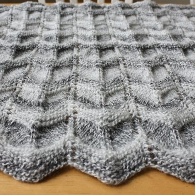 Custom Made Knit Baby Blanket Pattern - Easy Ripple Chevron