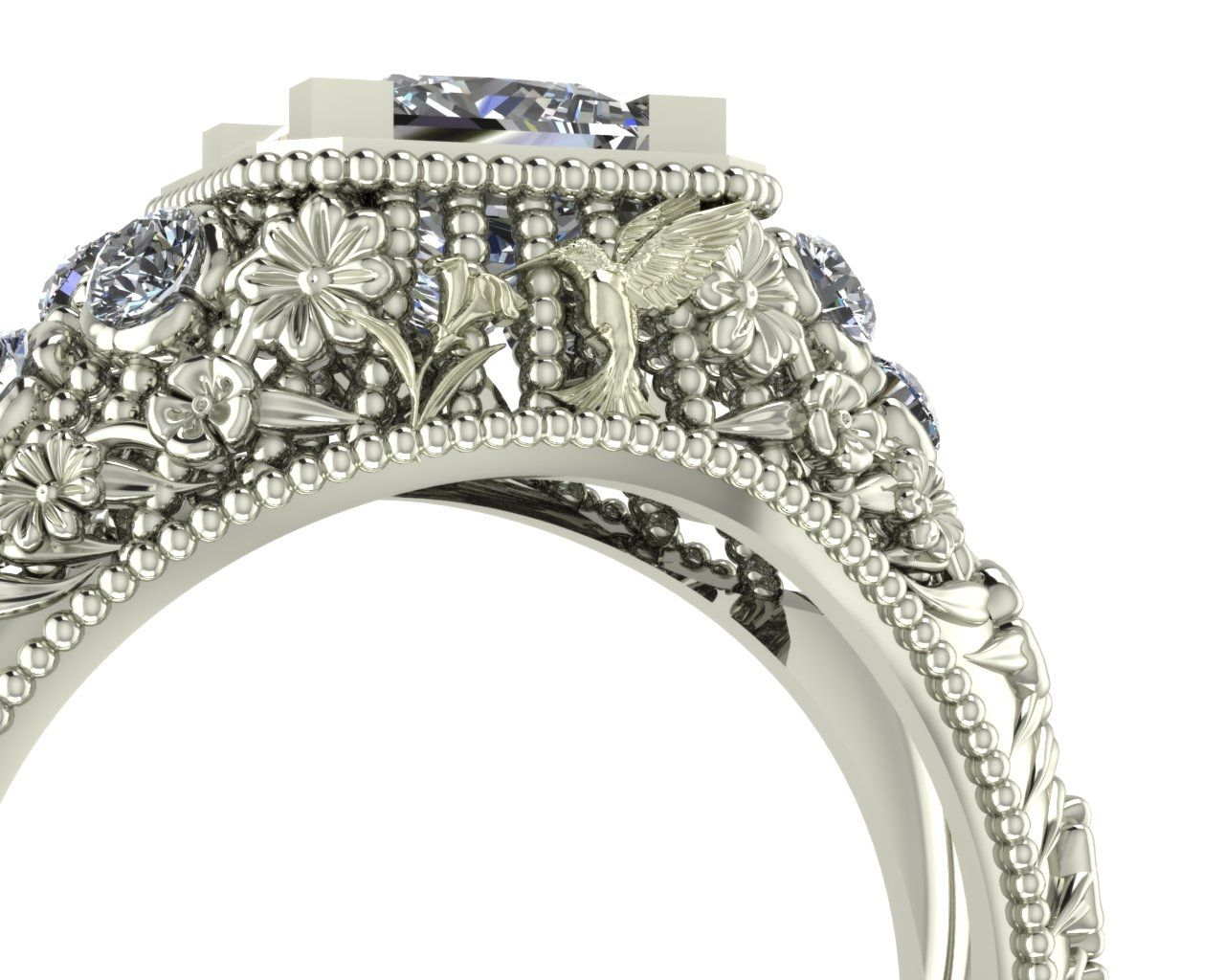 cluster floral rings collections jana ring engagement diamond bespoke wedding copy reinhardt