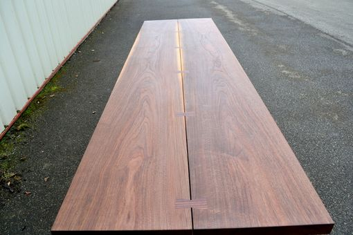 Custom Made Walnut Dining Table With Nakashima Style Base