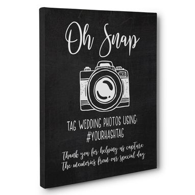 Custom Made Oh Snap Wedding Ceremony Canvas Wall Art
