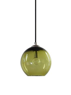 Custom Made Olive Hand Blown Glass Pendant Lighting Bubble Glass Pendant Light Made In Usa