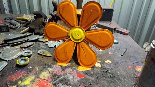 Custom Made Metal Wall Flower
