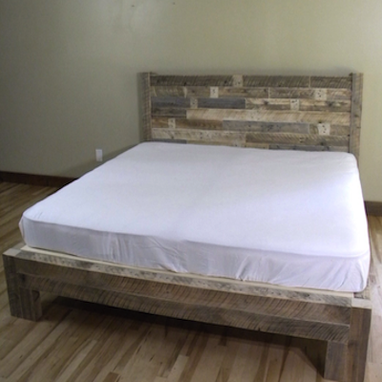 Custom Made Rustic Wood Bed