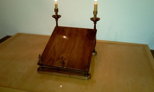 Custom Made Walnut Book Display