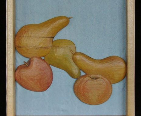 Custom Made Still Life With Fruit - Carved Mirror Frame