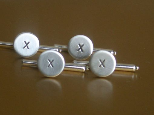 Custom Made Tuxedo Shirt Studs In Sterling Silver