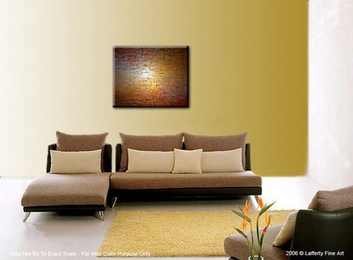 Custom Made Palette Knife Painting, Metallic Art, Textured Paintings, Abstract Gold, Copper Silver