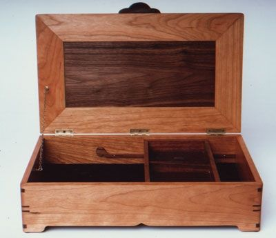 Custom Made Cherry And Walnut Jewelry Box