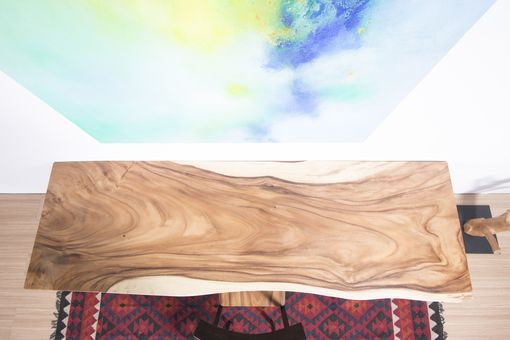 Custom Made Live Edge Wood Slab Table - Ideal For Home / Desk / Dining Table