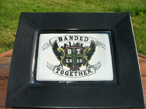 Custom Made Custom Platter With Logo And Event Details