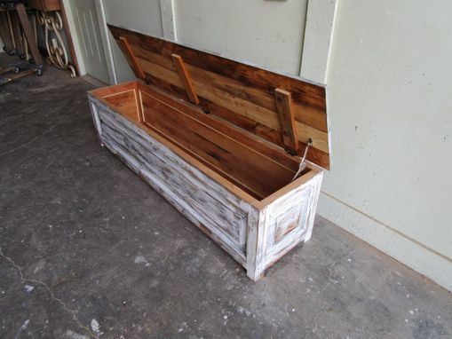 Custom Made Table Bench Chest Made From Reclaimed Wood In The Usa