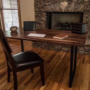 Walnut Wood Desk Modern By Madison Northrup