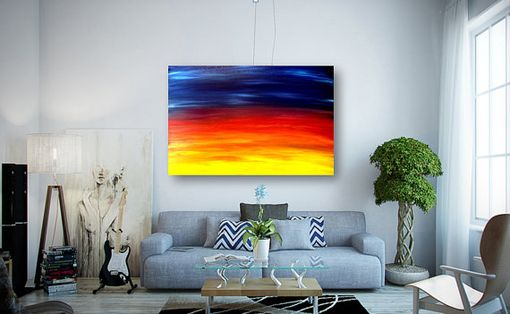 Custom Made Acrylic Abstract Painting On Canvas Titled: The Little Sun