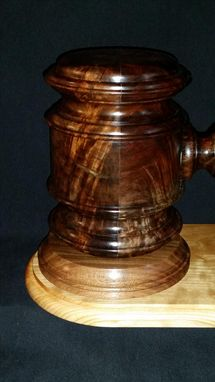 Custom Made The Gavel As Art