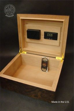 Custom Made Handcrafted Custom Inlaid Humidor With Free Shipping