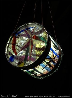 Custom Made Glass Mosaic Chandelier
