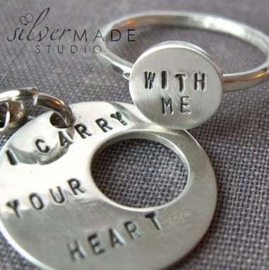 Custom Made Intertwine. Sterling Silver Ring And Keychain