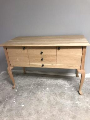 Custom Made Queen Anne Style Buffet Table/Sideboard Made Of Cherry