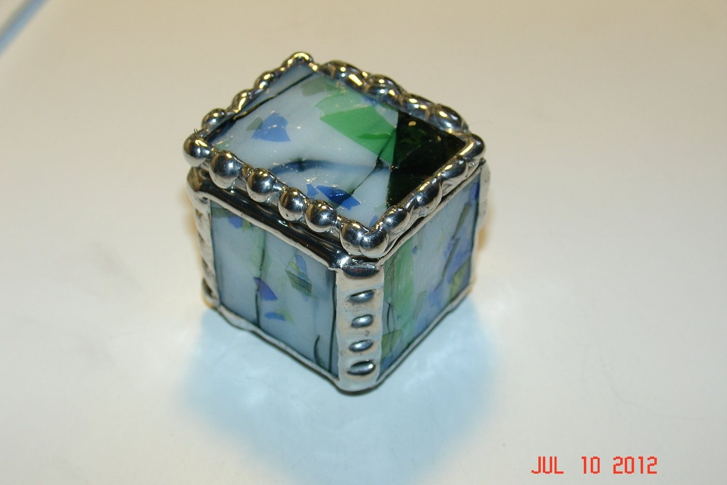 Small Stained Glass Ring Box