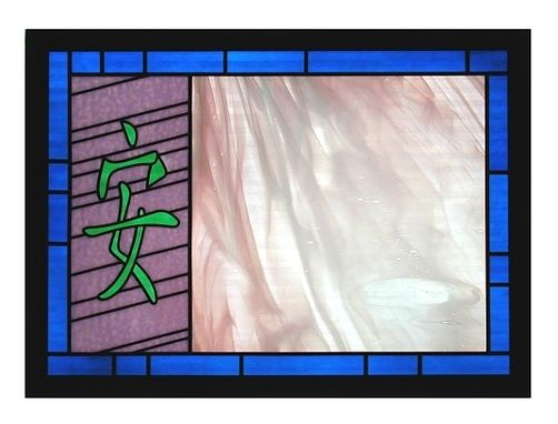 Custom Made Tranquility - Contemplative Stained Glass