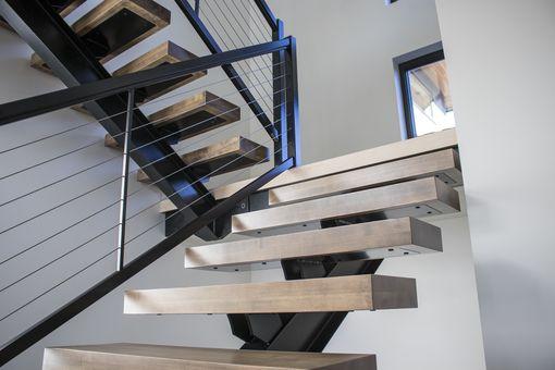Floating Metal Stairs