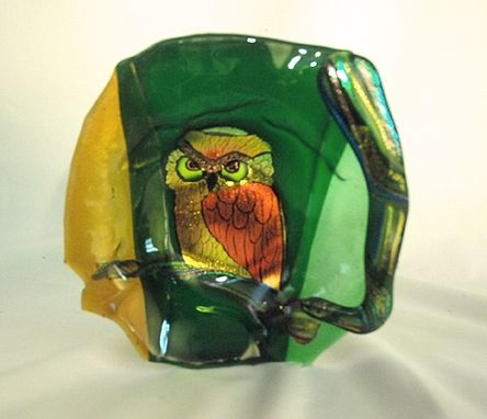 "Custom Made 9"" Owl Bowl"