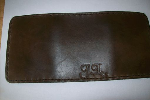 Custom Made Imperial Style Leather Tri-Fold Wallet