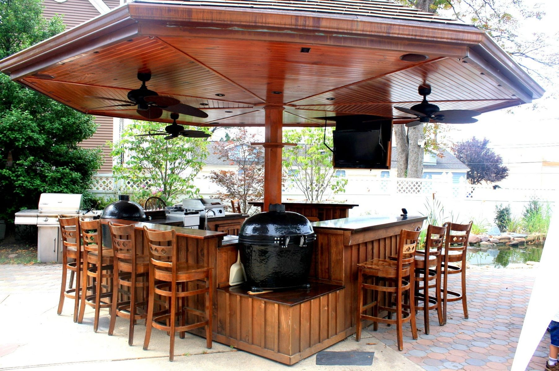 Handmade Primo Grill Outdoor Kitchen And Bar by Deck Kitchen ...