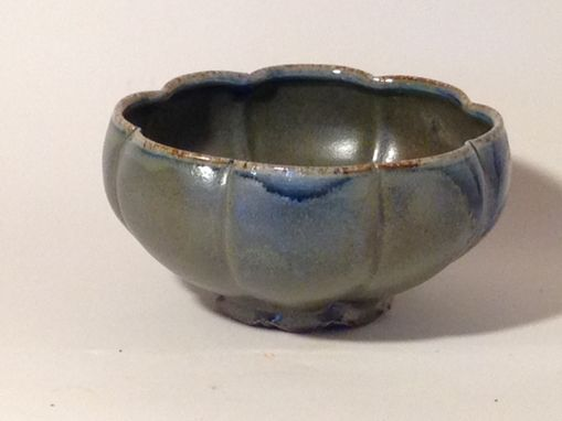 Custom Made Blue/Green Scalloped Bowl