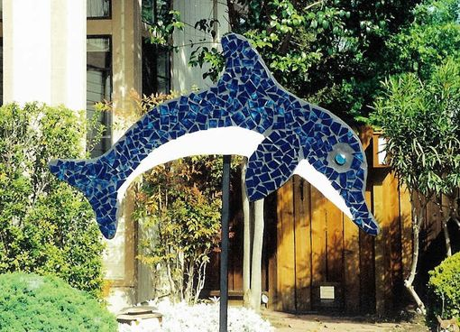 Custom Made Tile Mosaic Outdoor Sculptures