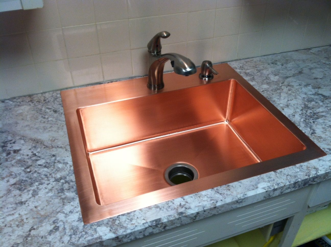 Hand made drop in copper kitchen sink by kutz fine - Copper drop in kitchen sink ...