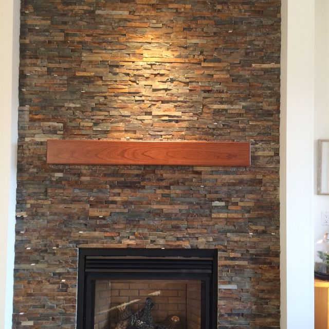 Handmade Cherry Modern Beam Fireplace Mantel  By Custom Corners Llc CustomMade Com