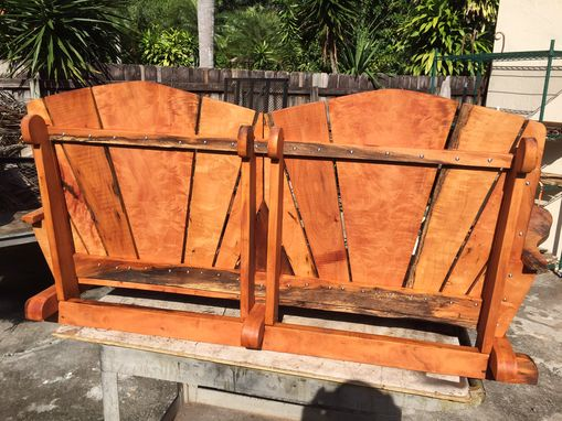 Custom Made Solid Florida Mahogany Porch Swing