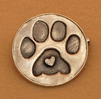 Custom Made Round Paw Print Lapel Pin