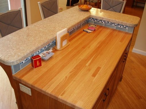 Custom Made Island To Match Existing Kitchen Cabinets