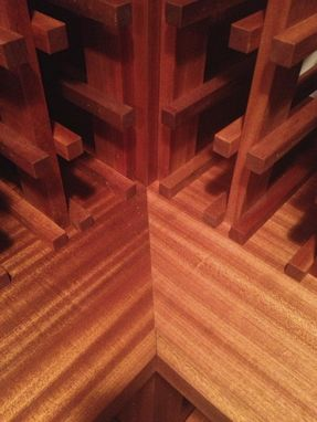 Custom Made Sapele Wine Cellar