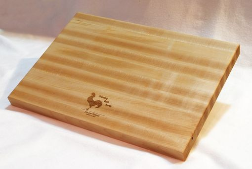 Custom Made Personalized Engraved Cutting Board | Maple Edge Grain