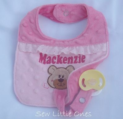 Custom Made Personalize Pacifier Bib